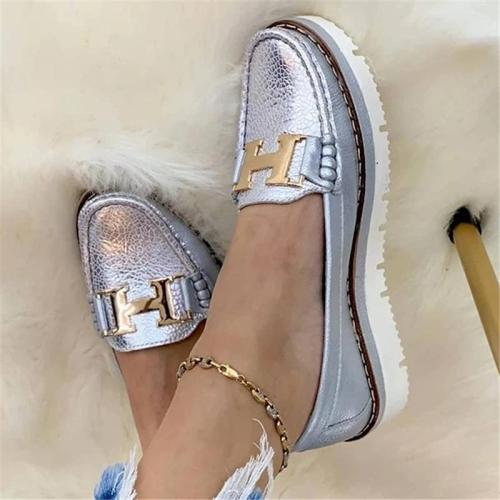 Comfortable Low-Cut Thick-Sole Non-Slip Flat Heel Loafers