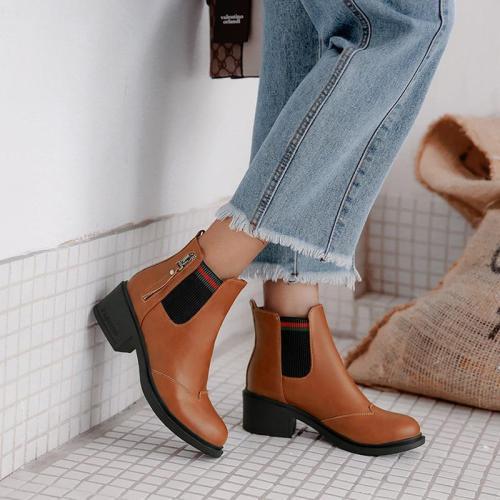 Mid-heeled Short Martin Boots
