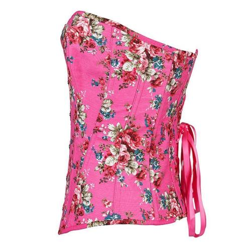 Floral Printed Slimming Body Corset For Women