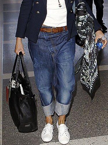 Women's Plus Size Cozy Denim Pants Jeans