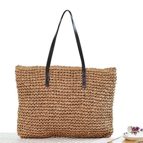 Women's Summer Beach Handmade Straw Woven Knitted Handbags