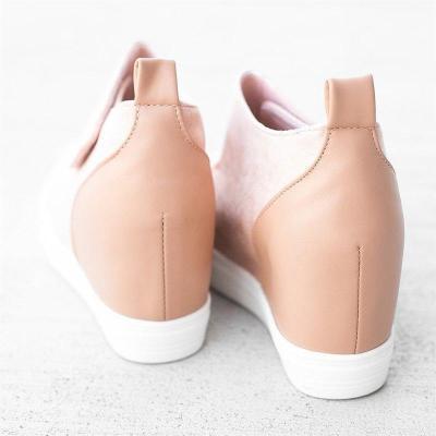 Comfortable Wedge Heel Non-Slip Round Toe Suede Shoes