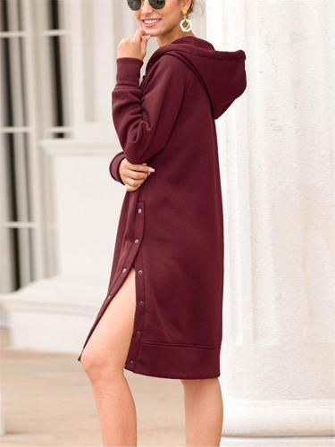 Women's Fashion Hooded Long Shirts
