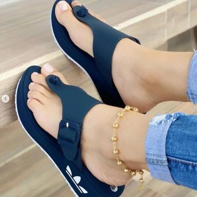 Casual Style Flip Flops Thick-Sole Platform Non-Slip Slippers