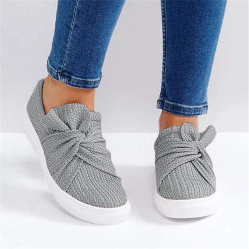Casual Solid Color Bow Flat Loafers
