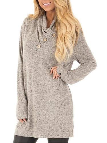 Women's Fashion Long Sleeve Pullover Sweatshirt