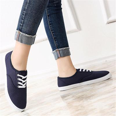 Comfortable Breathable Lace Up Low-Cut Flat Canvas Sneakers