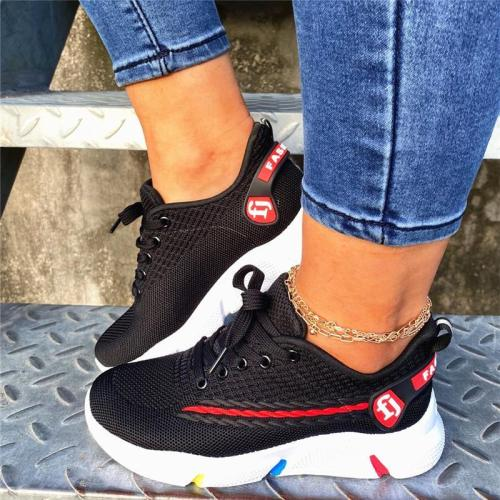 Casual Knitting Breathable Thick-Soled Sneaker