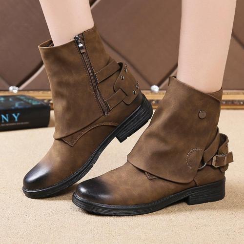 Women Fashion Flat Ankle Stylish Boots