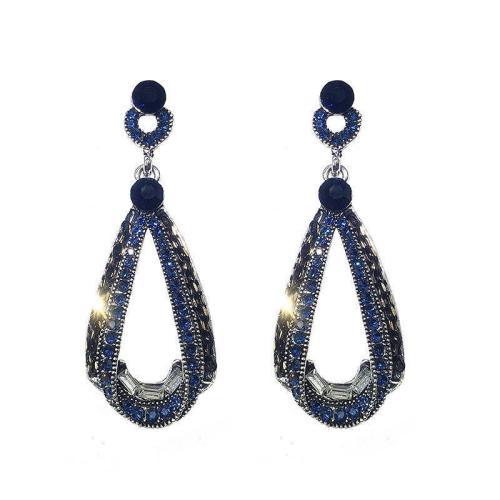 Luxury Drop-shaped Pendant Rhinestone Earrings