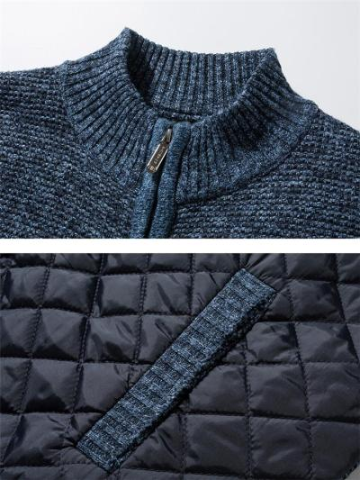 Ultra Cozy Full Zipper Pocket High Neck Knitted Coat