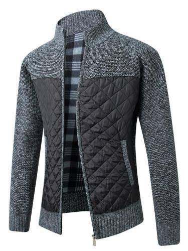 Ultra Cozy Full Zipper Pocket High Neck Knitted Coat