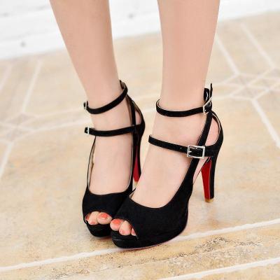 Woman's Sexy Red Bottom High Heel Sandals Pumps