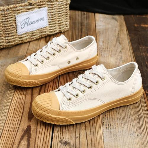 Casual Lace-Up Round Toe Canvas Shoes For Male & Female