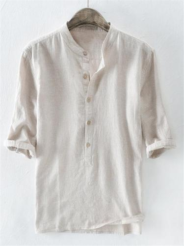 Men's Striped Button Up Shirts