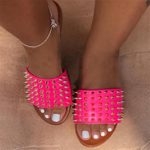 Cute Rivet Summer Slippers For Women