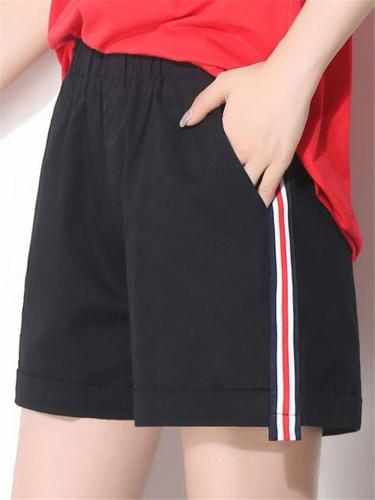 Casual Style Lightweight Mid-Rise Wide Leg Pocket Hot Shorts