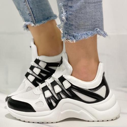 Breathable Thick Bottom High-Cut Lace-Up Sneakers