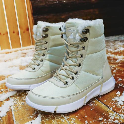 Warm Fur Lined Lightweight Waterproof Snow Boots For Couples
