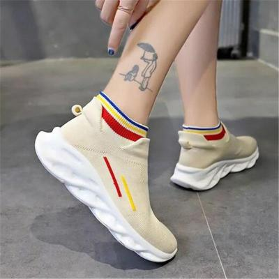 Cozy Breathable Mesh Wedge Low Heel Non-Slip Sneakers