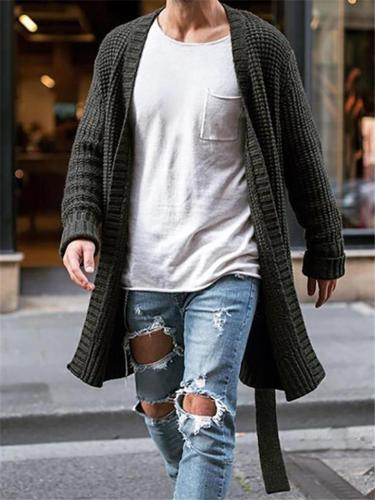 Men Casual Fashion Open FrontKnitted Cardigan