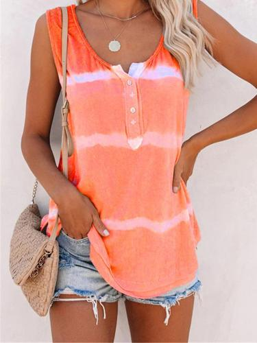 Tie Dye Comfy Sleeveless Tank Top For Women