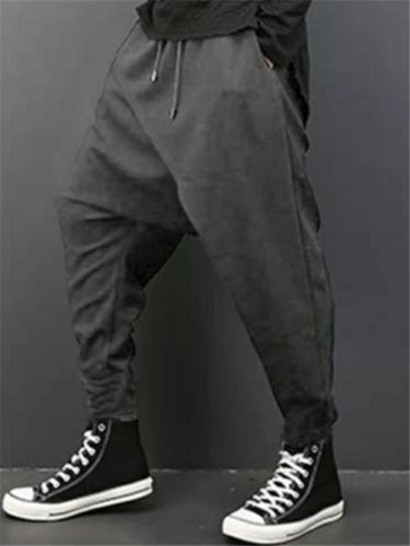 Mens Fashion Baggy Casual Ankle Pants