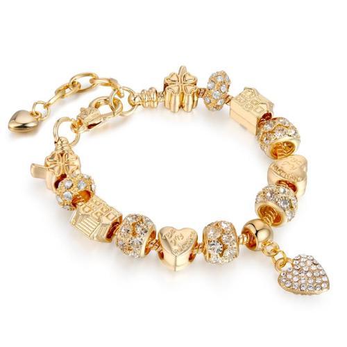 Shimmering Elegant String Beaded Adjustable Bracelet for Gifts