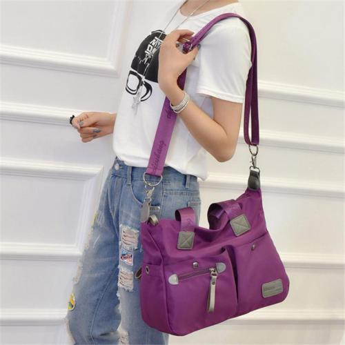 Casual Style Waterproof Multi-Pocket Zipper Crossbody Shoulder Bag