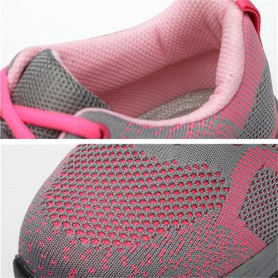 Breathable Puncture-Resistance Mesh Lace-Up Safety Shoes