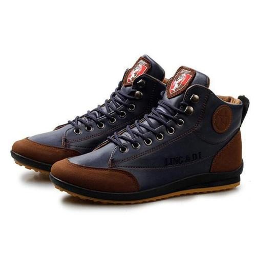 Men's Vintage Sporty Lace-up Leather Ankle Boots
