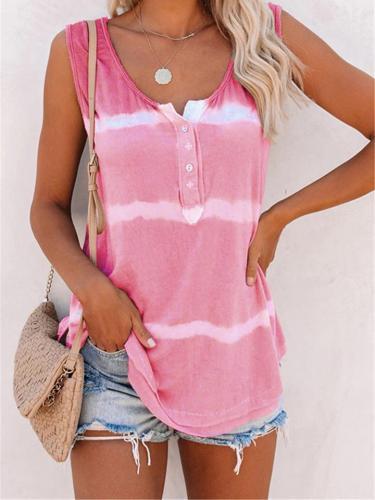 Tie Dye Comfy Sleeveless Tank Top For Women