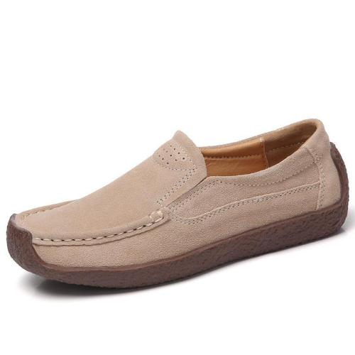 Cozy Suede Soft-Soled Flat Loafers Slip-on Shoes