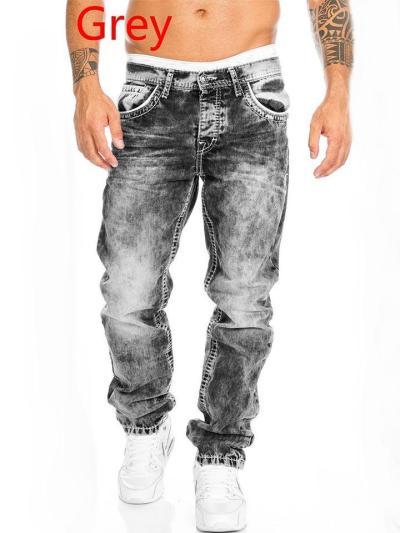 2021 Men's Cool Hip-Hop Straight Jeans