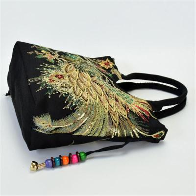 Ethnic Style Detachable Strap Embroidery Crossbody Shoulder Bag