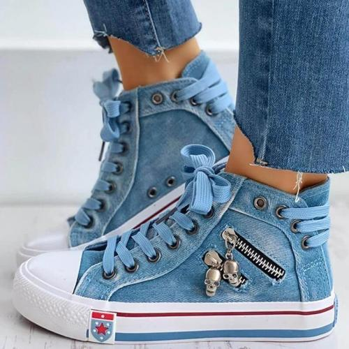 Lightweight Comfy Lace-up High-TopCanvas Shoes
