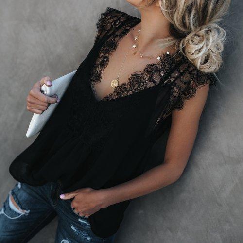 Women Summer Lace Vests