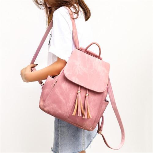 Fashionable Bags Set 2 Piece Soft Touch Adjustable Strap Backpack + Handbag