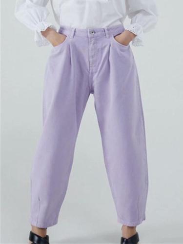 Stylish Denim Harem Jeans With Pockets