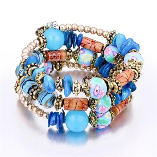 Ethnic Style Multi-layer Handmade Beaded Stone Bracelet