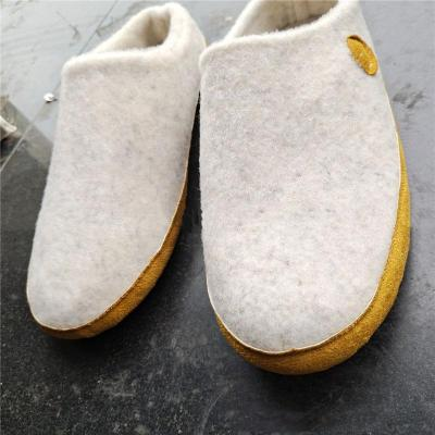 Comfortable Closed-Toe Cotton Woolen Flat Slippers