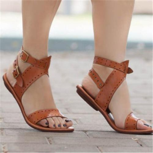 Woman's Beach Open Toe Flat Sandals