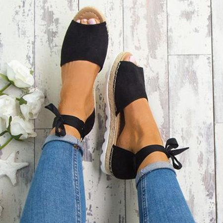 Platform Lace-up Summer Sandals For Women
