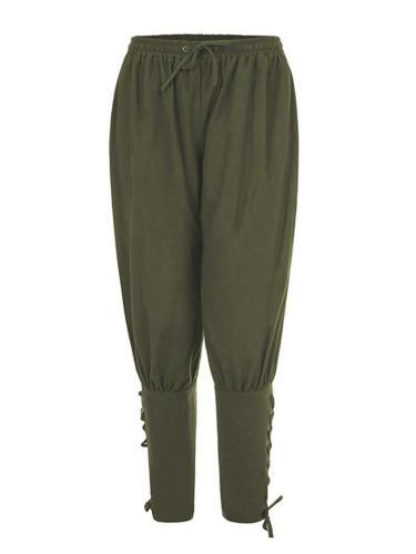 Renaissance Medieval Irish Peasant Pirate Trouser Loose Casual Pants For Men