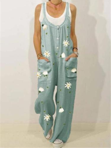 Women's Comfy Printed Jumpsuit