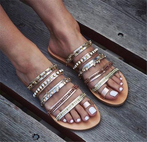 Large Size Flat Sandals