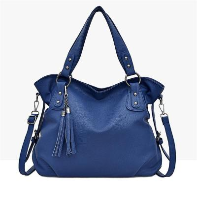 Casual Style Soft Touch Tassel Deco Crossbody Shoulder Bag