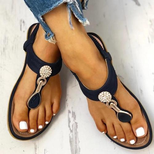 Comfortable Rhinestone Summer Beach Sandals