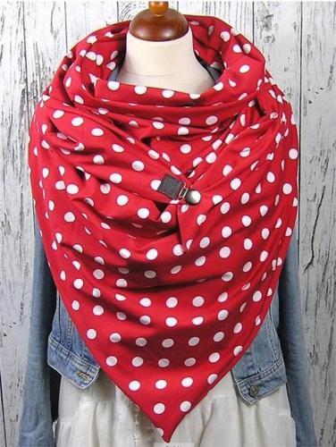 Stylish Comfortable Polka Dot Neck Warmer Triangle Scarves & Shawls