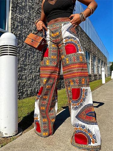 Distinctive Exotic High Waist Wide Leg Pants